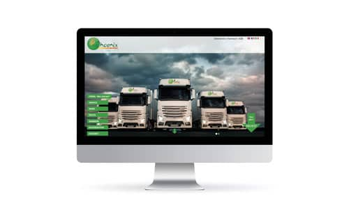 Webdesign Referenzen | phoenix-logistik.eu
